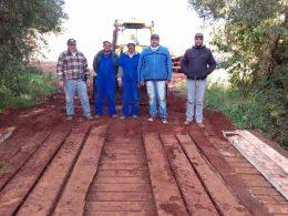 Ponte é reformada entre os municípios de Ernestina e Victor Graeff