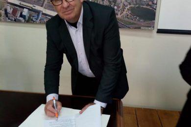 Prefeito Odir assina o convênio das câmaras de vídeo monitoramento