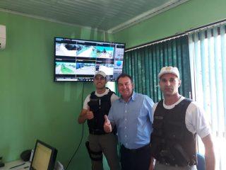 Câmaras de vídeo monitoramento estão em funcionamento