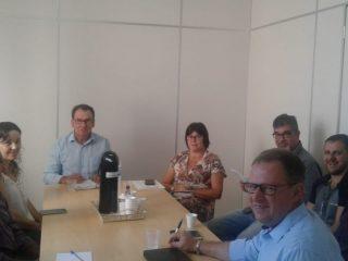 Reunião de planejamento com o Prefeito, vice  e equipe administrativa