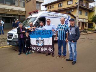 O Clube dos Gremistas, Secretária da Educação e Vereador comemoram conquistas para o município de Ernestina