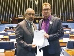 Prefeito Nico busca apoio do senador Paim para novos investimentos em Ernestina
