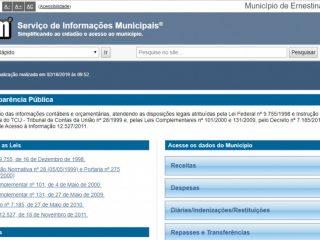 TCE reconhece total Transparência da Prefeitura de Ernestina