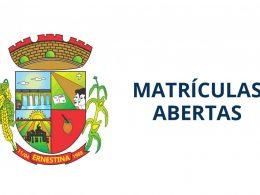Matrículas abertas na rede municipal de ensino