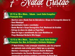 Ernestina convida para o 9º ErnestiNatal e 7º Natal Cristão