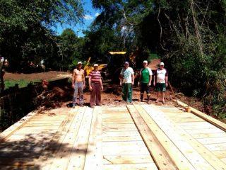 Prefeitura de Ernestina reconstrói ponte no Faxinal