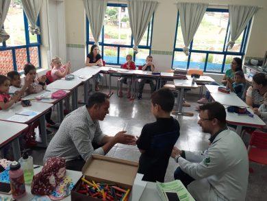 Equipe da Saúde repassa orientações aos estudantes ernestinenses