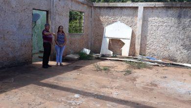 Reconstrução do ginásio da Escola Sachser pauta visita do prefeito em exercício Arno da Silva