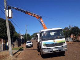 Manutenção da iluminação pública em Ernestina