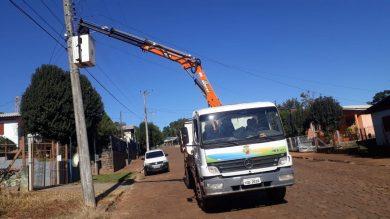 Secretaria de Serviços Urbanos está realizando o serviço