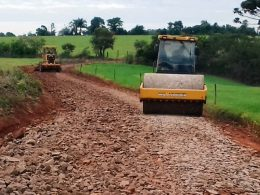 Estrada da Coxilha Seca recebe cascalhamento