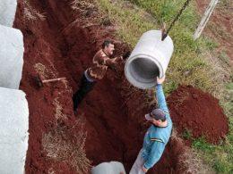 Prefeitura inicia instalação da drenagem nas ruas que serão pavimentadas