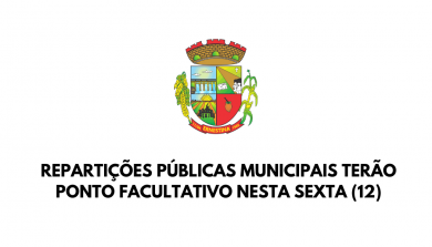 Repartições públicas municipais terão ponto facultativo nesta sexta (12)