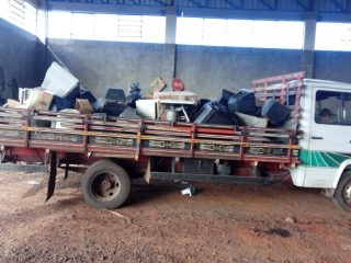 Campanha recolheu lixo eletrônico em Ernestina