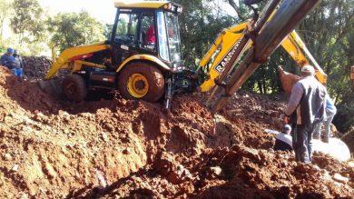 Secretaria de Obras e Viação renova sistema de drenagem pluvial na estrada