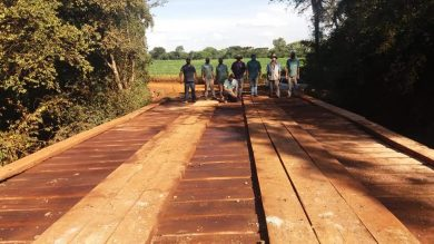 Reconstrução de Ponte no Faxinal entre Ernestina e Santo Antônio do Planalto foi concluída