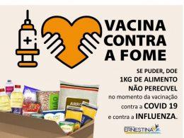 Ernestina lança campanha de Vacina contra a Fome para doação de alimentos