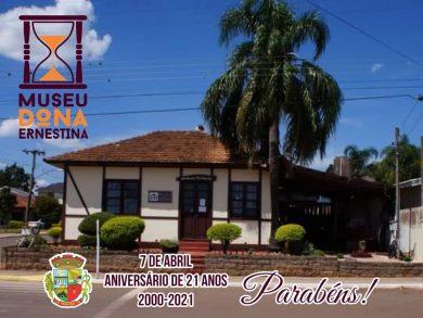 Parabéns ao Museu Municipal Dona Ernestina pelo 21º Aniversário!