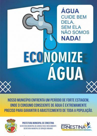 Prefeitura lança campanha pelo uso consciente da água