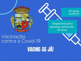 Nova remessa de doses de vacinas contra a Covid-19
