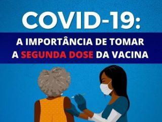 Prefeitura reforça importância da segunda dose da vacina na luta contra a Covid-19